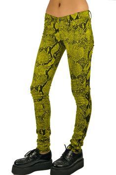 Tripp NYC T Back Jeans Snake Print. $66
