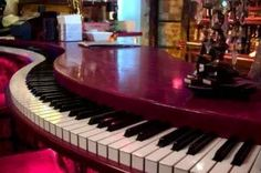 """I always wondered what a """" piano bar"""" was .... DdO:) MOST POPULAR RE-PINS -  http://www.pinterest.com/DianaDeeOsborne/ddo-most-popular-re-pins/ - Music Humor in Architecture / Interior Design entertainment! Also wonder if keys are recycled from actual ivory key pianos - full scale size & look like quality - Great art as well! Those of us who keep drinks away from our stringed musical INSTRUMENTS OF JOY - https://www.pinterest.com/DianaDeeOsborne/instruments-for-joy/ - might worry re spills!"""
