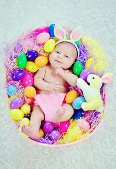 My sweet bunny baby this Easter.  She's gone from being born early as a teensie weensie preemie baby to a chunky sweet snuggly baby in just 6 weeks.  Thank god she is progressing so well.  <3  Best Easter Basket a mama could ask for.