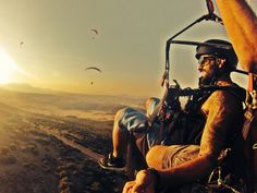 Paragliding gopro shot