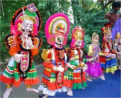 Kasaragod, a form of Puppetry, Kerala, India
