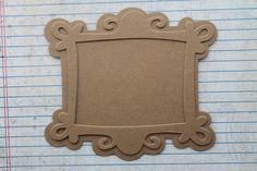 2 Scroll Filigree Rectangle Chipboard Frame Diecuts with backing pieces Cardboard Art, Cardboard Furniture, Touch And Feel Book, Fun Crafts, Diy And Crafts, Graffiti Lettering, Back Pieces, Chipboard, Diy Frame