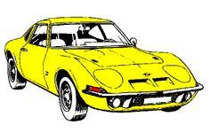 Draw Opel GT 1900