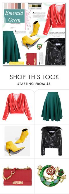 """""""How to wear Green skirt"""" by norairh on Polyvore featuring Topshop, Balenciaga, Moschino, Clinique and modern"""