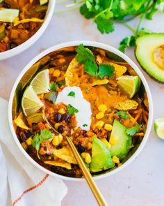 Good Healthy Recipes, Whole Food Recipes, Soup Recipes, Delicious Recipes, Easy Recipes, Vegetarian Cookbook, Vegetarian Recipes, Vegan Soups, Clean Eating Recipes