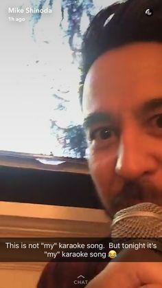 Mike Shinoda, Karaoke Songs, Linkin Park, Me Me Me Song, Snapchat, Mens Sunglasses, Heart, Music, Musica