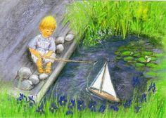 Marjan van Zeyl - little boy and sailboat