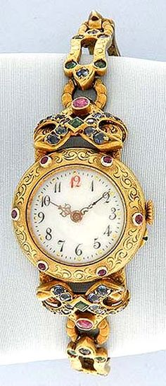 Silver Gilt and Stone - Bogoff Vintage Wrist Watch # 6865