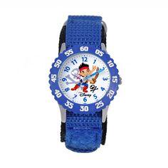 Disney's Jake & the Never Land Pirates Kids' Time Teacher Watch, Boy's, Blue