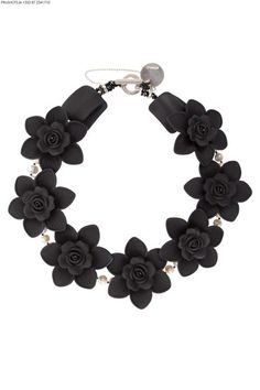 Black and White Coco Floral Collar - melissacurry