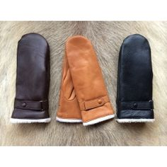 Damen Fäustlinge Gefüttert #winterhandschuhe #handschuhe #lined #leather #gloves…