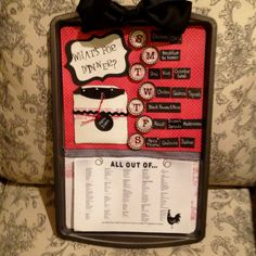 Magnetic Cookie Sheet Menu Board ( extra menu items on the back)