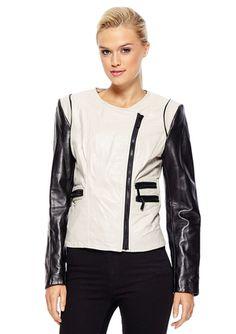 On ideeli: VINCE CAMUTO Leather Colorblock Jacket