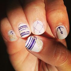 Anchor nail wraps Nautical Nail Art, Anchor Nails, Nail Wraps