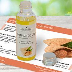 Huile végétale d'Amande Douce bio apaisante pour les peaux sèches et pour les bébés