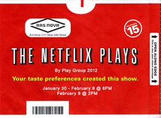 The Netflix Plays at ARS NOVA - ***+ Jan 2013