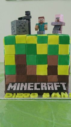 Cake Minecraft Party, Cube, Toys, Gaming, Games, Toy, Beanie Boos