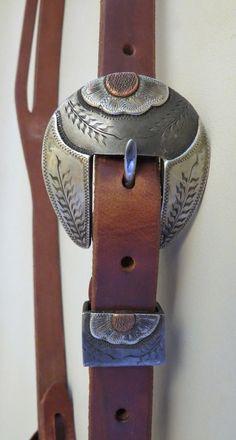 "9242 New Handmade GRUMPY OLD COWBOY Heavy Harness ¾"" Slot Ear Headstall STEPHEN WHITE Buckle"