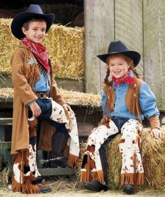 This cowpoke childrens costume includes faux suede vest, wristbands, and chaps with buckle. A Wishcraft costume by Chasing Fireflies. Halloween Costumes For Girls, Halloween Dress, Girl Costumes, Kids Cowgirl Costume, Cowboy Costumes, Boy Halloween, Traje Cowgirl, Toddler Vest, Westerns