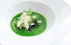 Chilled Broccoli Soup & Salt Cod Recipe With Seared Scallops