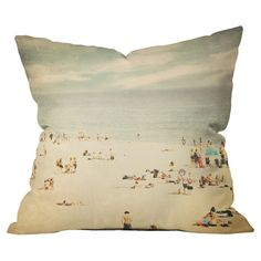 beachy boho textured accent pillows | Shannon Clark Vintage Beach Pillow - DENY Designs on Wayfair