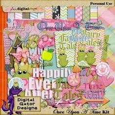 Once Upon A Time Kit by Digital Gator Designs @Plaindigitalwrapper.com
