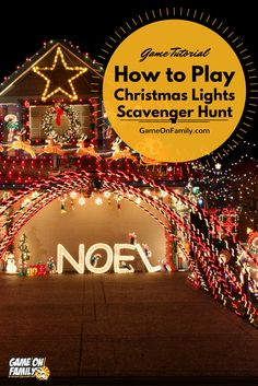 Check out our free Christmas Lights Scavenger Hunt printable game! It's an easy, fun holiday game to play while looking at Christmas lights. Fun Christmas Games, Holiday Party Games, Christmas Lights, Holiday Parties, Holiday Fun, Scavenger Hunt Games, Family Game Night, Fun Games, Free Printables