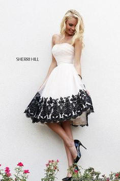Sherri Hill: Adorable T-length dress! Wear it for prom or another special occasion! | GGM - Glamour Gowns and More--prom dresses