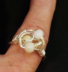 Quartz wire wrapped ring designed by lindab142