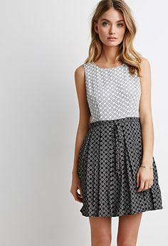 Abstract Print Pleated Dress | Forever 21 - 2002247847