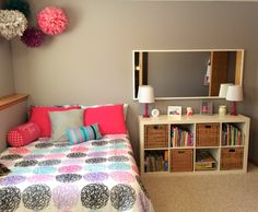 Pink And Purple Girls Room Love The Two Tones On The Wall For The Home Pinterest Room