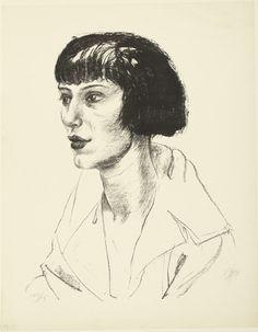 german-expressionists:    Otto Dix, Mrs. Otto Mueller (Frau Otto Mueller), 1923