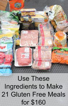 Gluten Free Plan Ingredients