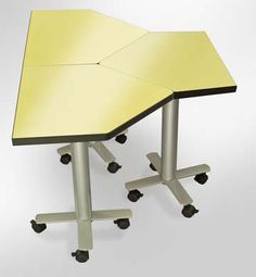 Collaboration tables can be arranged easily in a multitude of ways.