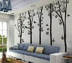 5 Birches Tree Wall Sticker