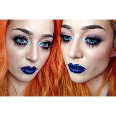 """""""@dominiqueldr plays with shadow and color using our NEW Prismatic Shadow in 'Mermaid'  Who else likes our Prismatic Shadows? Tell us! We love feedback…"""""""