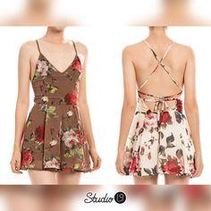 """STUDIOL9   Floral Crossback Romper - """"I have enough dress."""" - said no one ever http://www.studiol9.com/#!product-page/c6np/ba399e2d-7891-9fd2-3967-003a04b710b2"""