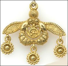 Minoan bee pendant