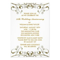Wording For Th Wedding Anniversary Invitations  The Wedding