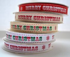 6 yards of Merry Christmas Ribbon by HercyBercy on Etsy, £5.35
