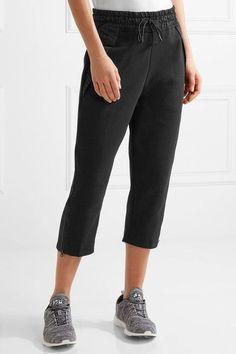 Nike - Tech Fleece Cropped Shell-trimmed Cotton-blend Track Pants - Black - x large