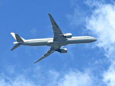 Air China flying over Massapequa, New York. June 12, 2016.