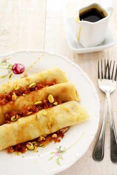 Coconut Jaggery Crepes with Kithul Treacle