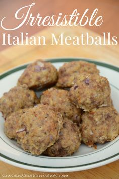 Do you need a delicious and simple weeknight plan for dinner in a snap? How about something that even the picky eater will love and you can use in different ways? These Irresistible Italian Meatballs are easy to make and are perfect to freeze for your family.