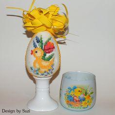 Design by Suzi: Polystyrénové vajíčka Crossstitch, Easter Eggs, Jar, Spring, Design, Scrappy Quilts, Cross Stitch, Punto De Cruz, Seed Stitch