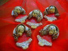 Masa Solna, Aniołki świąteczne Gingerbread Cookies, Desserts, Food, Gingerbread Cupcakes, Tailgate Desserts, Deserts, Eten, Postres, Dessert