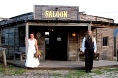 Wedding Portraits by Simone Epiphany Photography at J. Lorrain Ghost Town in Manor Texas