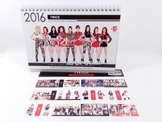 TWICE Photo 2016 2017 Desk (White) Calender Calendar New Year Gift Kpop