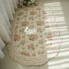 Country Floral Rose Cotton Quilted Living Bedroom Floor Mat Rug Runner Carpet G | eBay