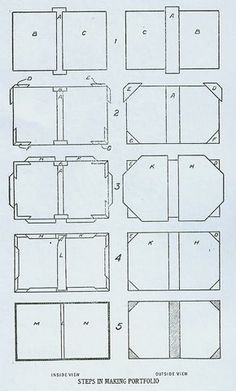 DIY Pocket Paper Portfolio by Bookbinding.com (This website offers many tutorials, including Pocket Paper Files, Desk Paper Files, Note Book...